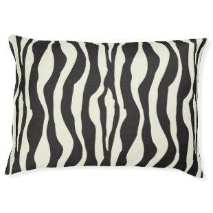 Zebra stripes pattern large dog bed