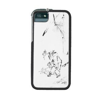 Zen painting patriarch meditation iphone case case for iPhone 5/5S