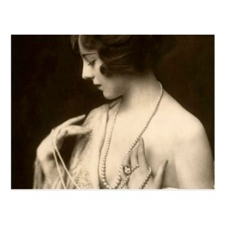 Ziegfeld Girl Postcard