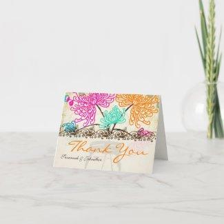 Zinnia Floral Mason Jar Thank You