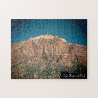 Zion National Park Vintage Photograph Puzzle
