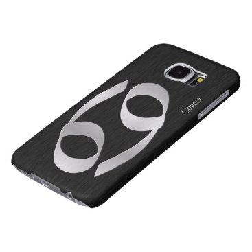 Zodiac - Cancer black and silver Samsung Galaxy S6 Case