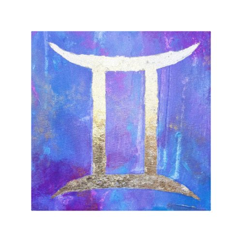 Zodiac: GEMINI Canvas Print