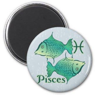 Zodiac Sign Pisces Symbol Refrigerator Magnet