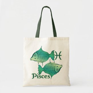 Zodiac Sign Pisces Symbol Tote Bag