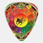 Zodiac Sign Sagittarius Mandala Guitar Pick