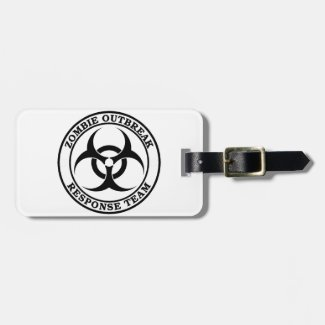 Zombie Outbreak Response Team (Biohazard) Travel Bag Tags