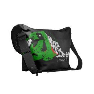 Zombie Popcorn Messenger Bag