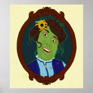 Zombie Portrait Poster / Print