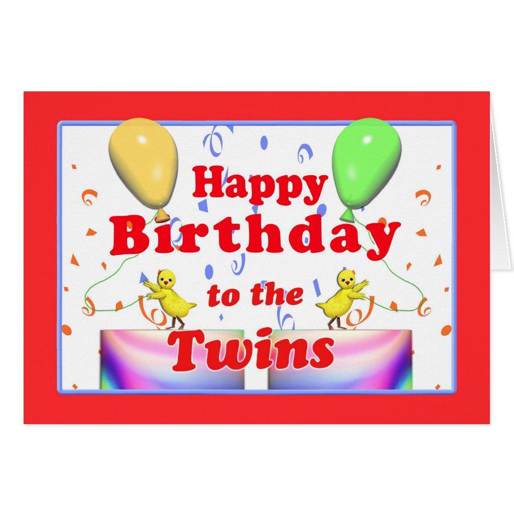 Happy Birthday Wishes Twins