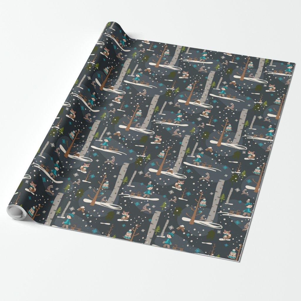 Winter Woodland Geschenkpapier