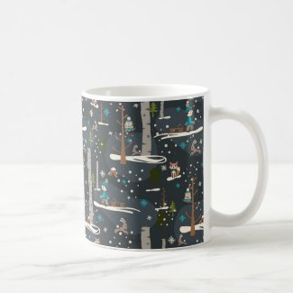 Winter Woodland Kaffeetasse