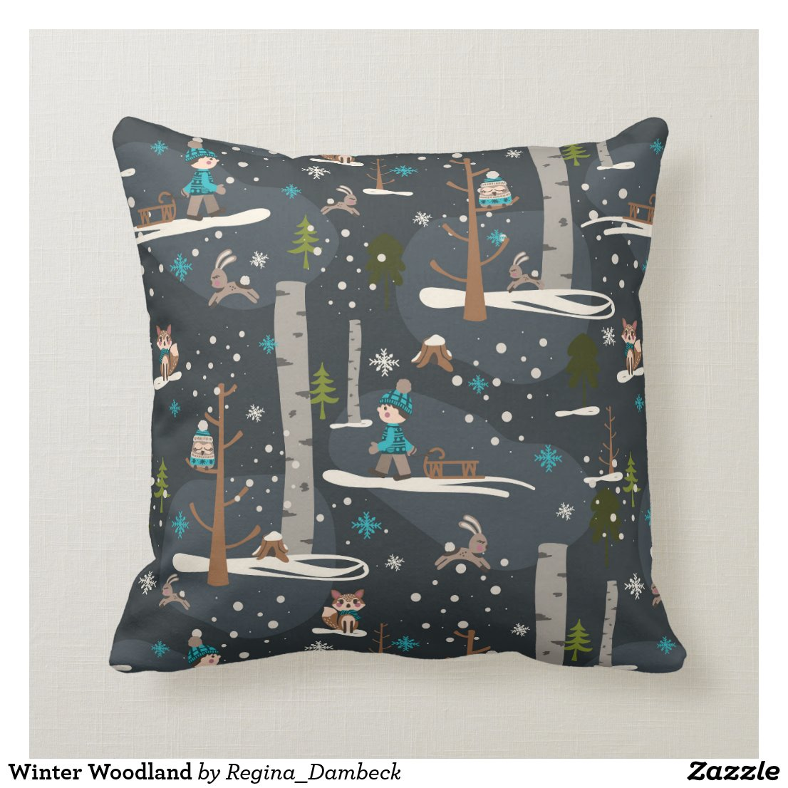 Winter Woodland Kissen