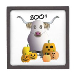 Cajas de regalo Fantasma De Halloween Zazzle es
