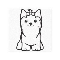 Yorsay Para Colorear Colorear Perro Yorkshire Terrier O Yorkie