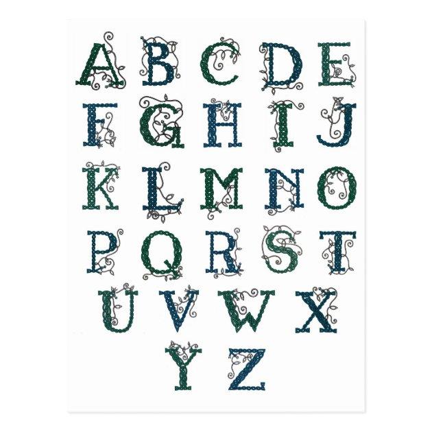 Carte Postale Celtique D'alphabet Zazzlefr