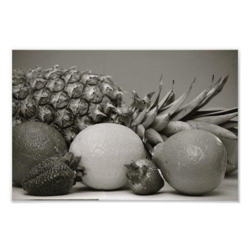 Fruit frais en noir et blanc impression photographique  Zazzle