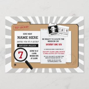 invitations faire part agent secret