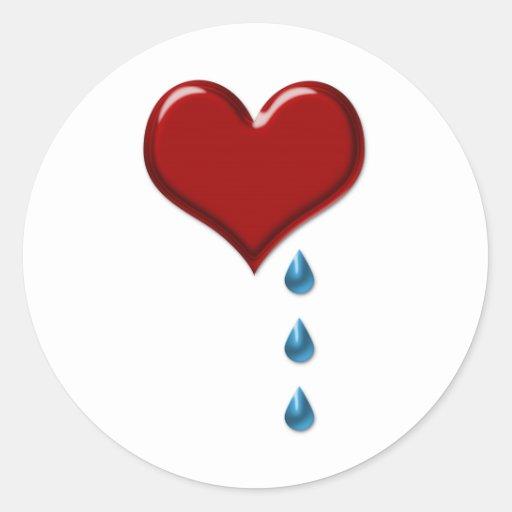 Mon Coeur Pleure Les Autocollants De Valentine Zazzle