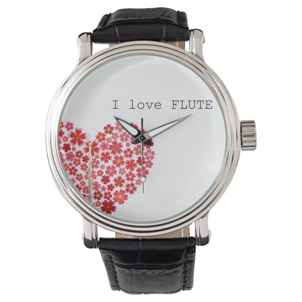 I love FLUTE Watch フルートの腕時計