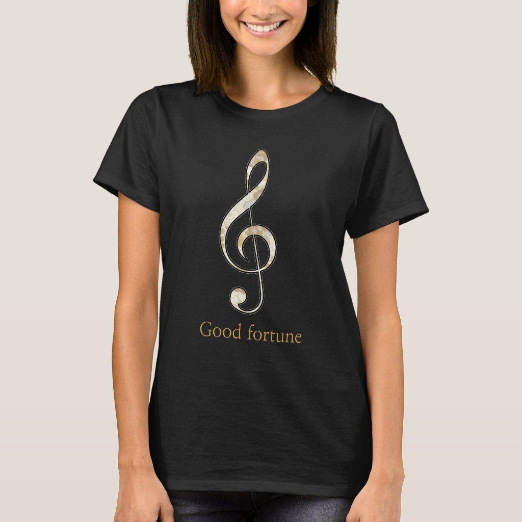 Treble clef Good fortune T-shirts ト音記号 幸運Tシャツ