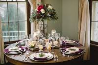 woodsy wedding reception table setting | R.L. Wilson House
