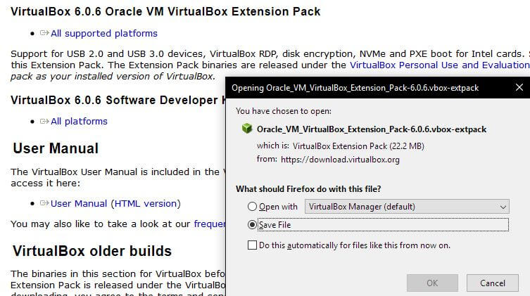 Cómo instalar Oracle VM VirtualBox Extension Pack | rm-rf.es