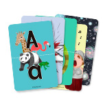 Preschool kids that speak either English, Spanish or French can use these as a fun learning practice for upper and lower case alphabet vowels. If your kid is bilingual, then you might find them ultra useful :) by kids activities designer Rodrigo Macias