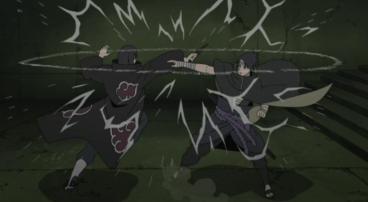 Itachi Uchiha (right), Sasuke Uchiha (left)