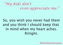 kids don't appreciate me