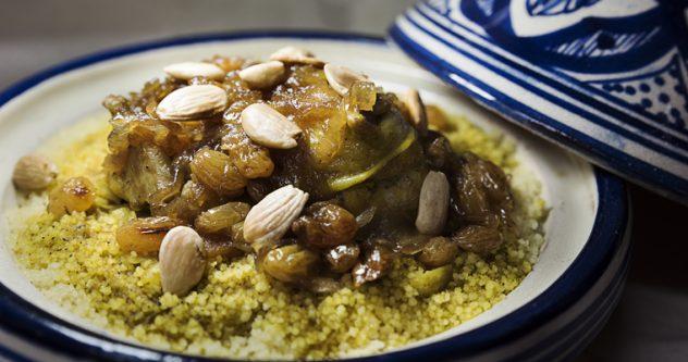 Plato de cuscús del restaurante Marhaba