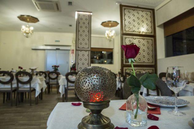 cena de san valentín en el restaurante marhaba