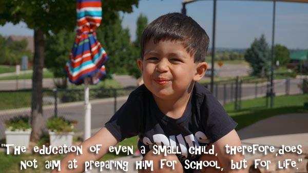 maria montessori quote at Renaissance Montessori Academy Parker CO