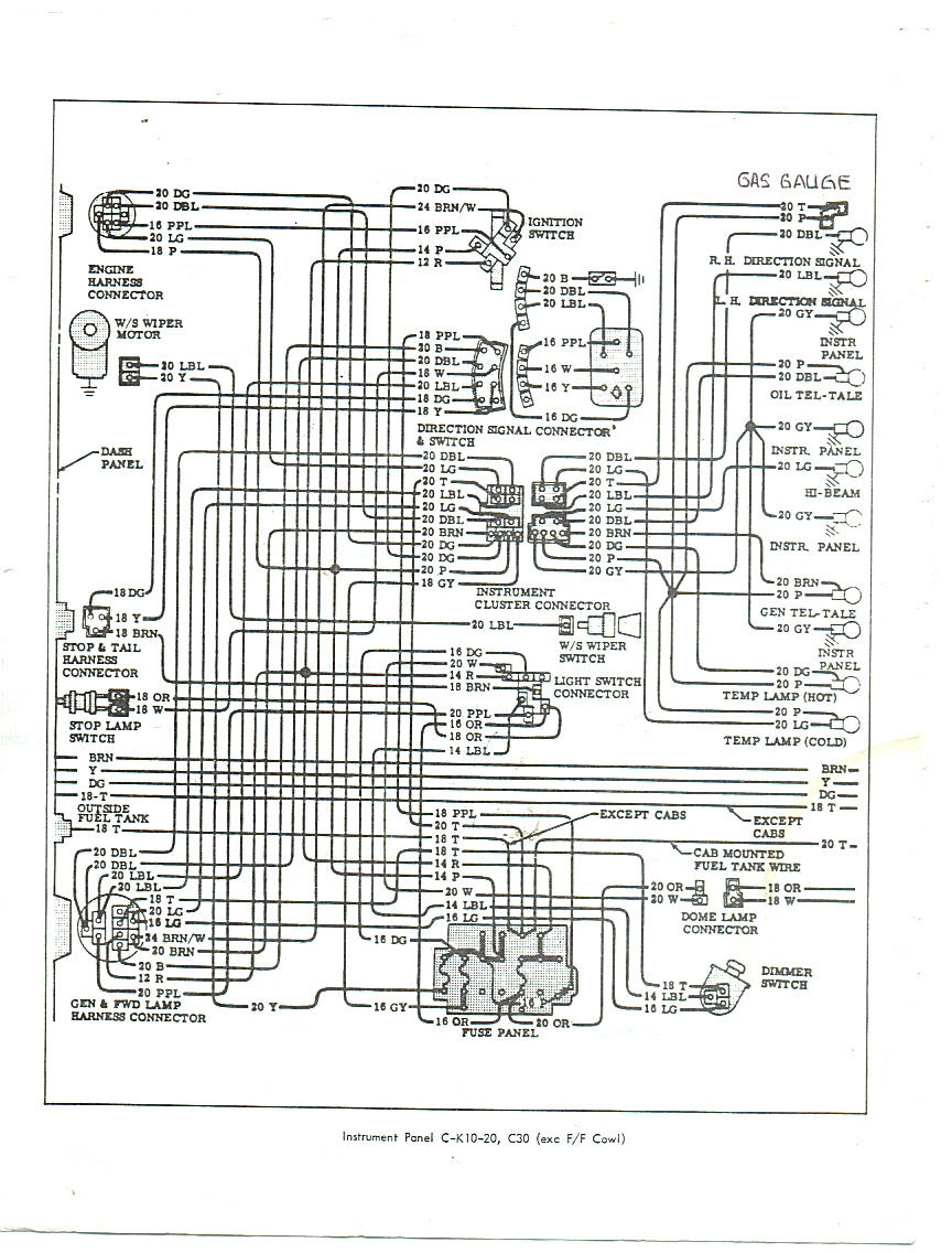 1964 Chevrolet C10 Wiring Diagram