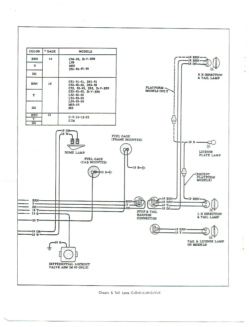 1965 Chevy C20 Electrical Diagram From Fuse Box : 47