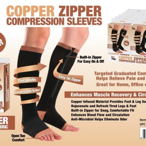 F1-300 - 'Copper' Zipper Compression Sleeves-0