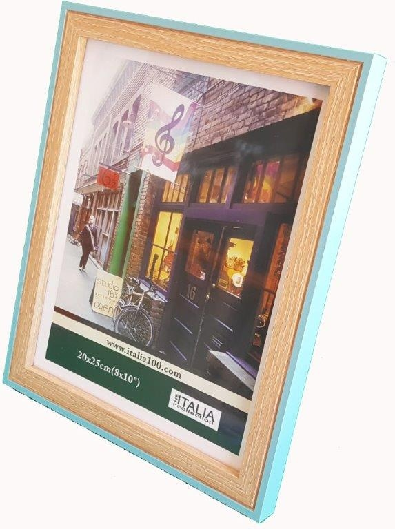 "P3-232 - 4"" X 6"" Two Tone Turquoise Frame-0"