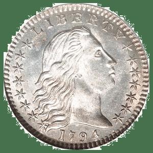 Flowing Hair Half Dime (1794 - 1795)