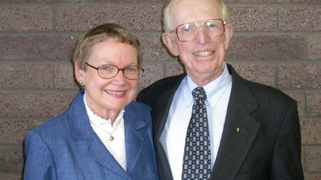 Janet and Robb in 2005, on their anniversary.