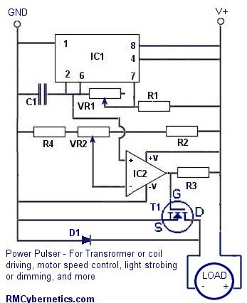 Electric Fence Circuit Diagram : electric, fence, circuit, diagram, Homemade, Power, Pulse, Controller, RMCybernetics