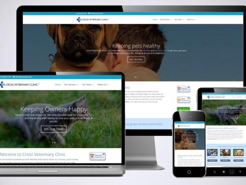 Cross Veterinary Clinic Website