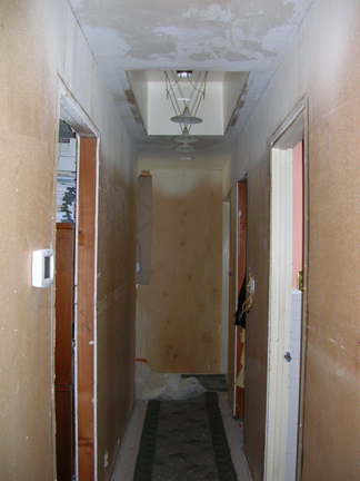 hallways torn up