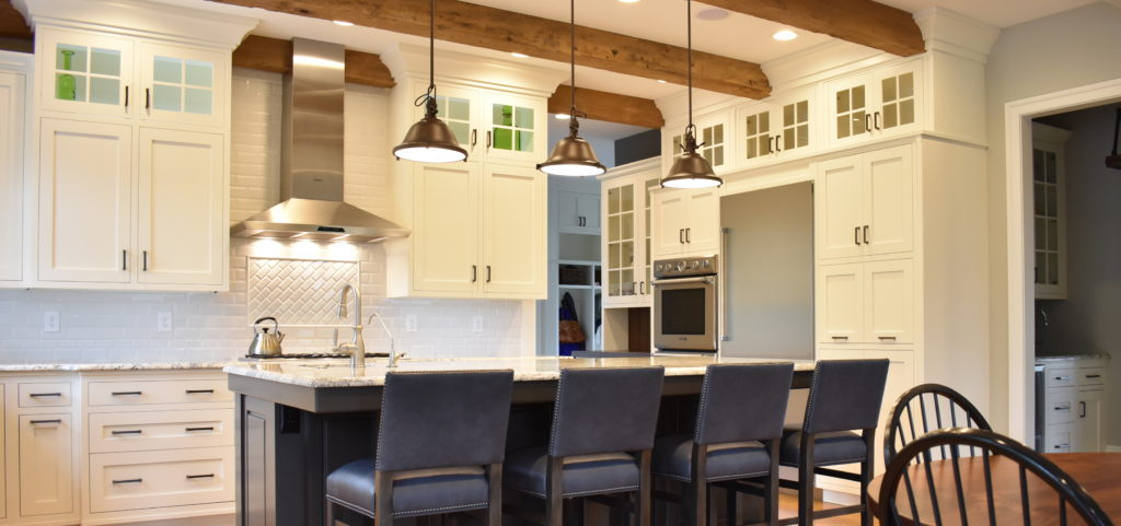 Shaker kitchen remodel with custom cabinets