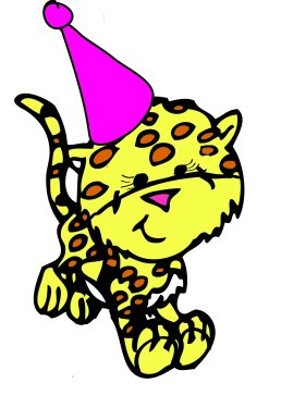 Birthday Cheetah