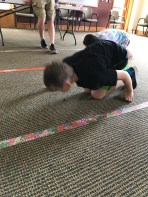 Whopper Relay! Push a whopper across the room using only your nose.