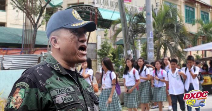 Seguridad sa mga eskwelahan sa Davao gipahugtan human