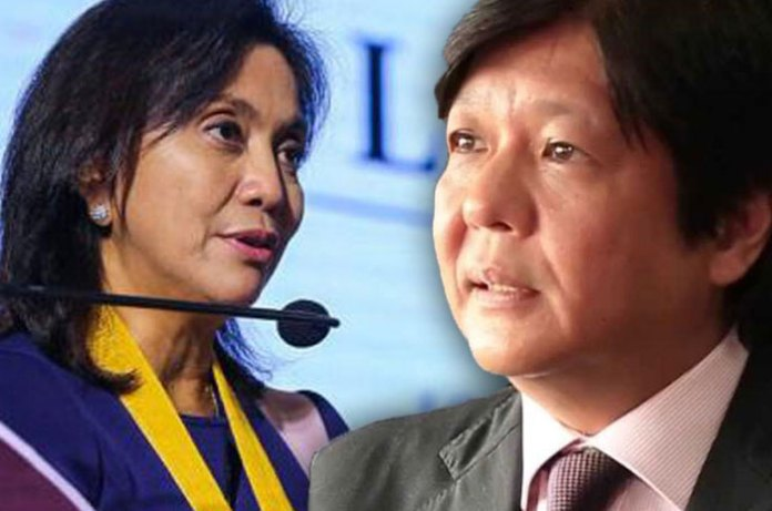Image result for images for bongbong marcos with leni robredo