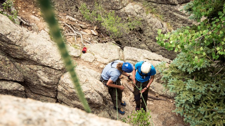 Amga Single Pitch Instructor Rocky Mountain Outdoor Center