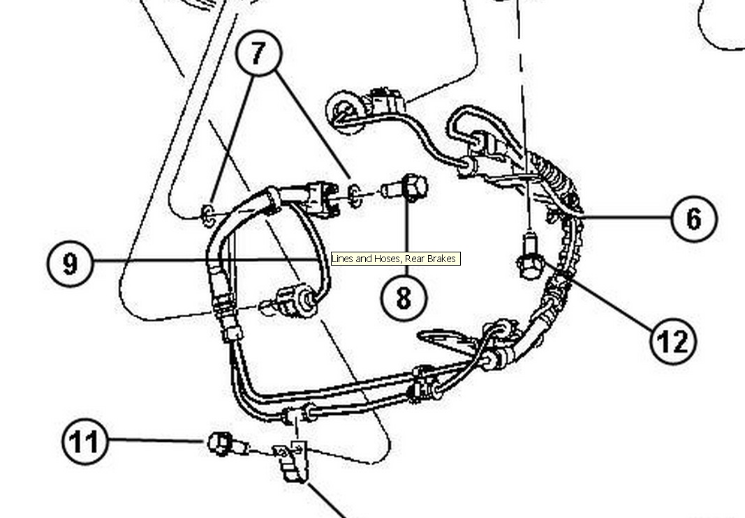 [1998 Chrysler Town Country Diagram Showing Brake Line