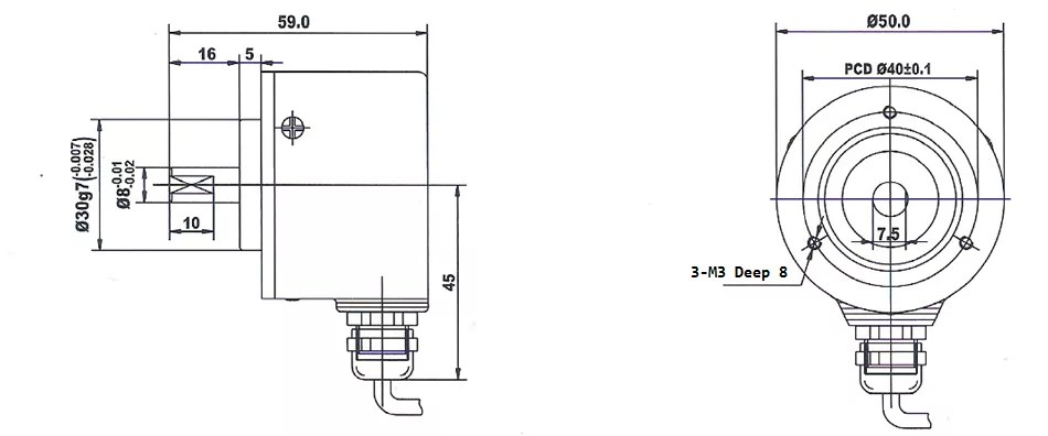 China 50mm Rotary Encoder,Incremental Rotary Encoder ,08mm